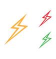 thunderbolt symbol vector image