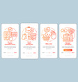 translation service process red onboarding mobile vector image vector image