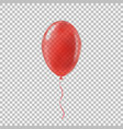 transparent red helium balloon vector image