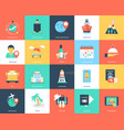 travel icons pack vector image