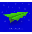 Tree Shaped Paper Plane vector image vector image