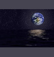 view of planet earth from the space seaelements vector image vector image