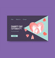 website template with international day vector image vector image