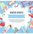 winter sports banner vector image vector image