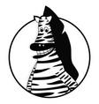 zebra icon flat vector image vector image