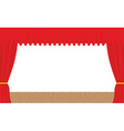 Empty stage Outdoor red curtain Curtains before vector image