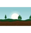 Background of hill beauty landscape vector image