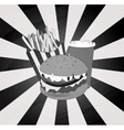 vintage grey theme of hamburger vector image