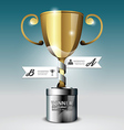 Abstract 3d winner trophy Infographic Design vector image vector image