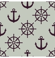 Anchor and ship wheel Nautical texture vector image vector image