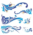 Arabic ornaments with waves vector image vector image