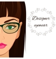 Attractive woman in spectacles Optician stylish vector image vector image