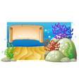 background design with underwater scene vector image vector image