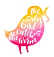 Bird lettering composition vector image vector image