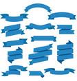 blue web ribbons set white background vector image vector image