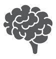 brain glyph icon anatomy and neurology vector image