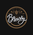 brewery hand drawn lettering phrasehandwritten vector image vector image