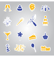celebration and party stickers set eps10 vector image vector image