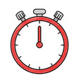 chronometer clock isolated icon vector image
