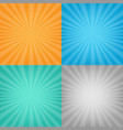 color sunburst background set vector image vector image