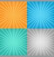 color sunburst background set vector image