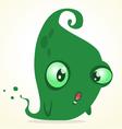 Cute cartoon green ghost