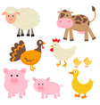 Cute farm animals vector | Price: 1 Credit (USD $1)