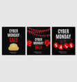 cyber monday sale deals design template collection vector image vector image