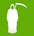 death with scythe icon green vector image vector image