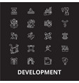 development editable line icons set on vector image vector image