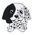 dog puppy english setter hand drawn vector image