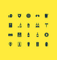 drink icons set with geolocation of beer beer vector image
