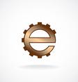 E letter logo template Gear technical concept vector image vector image