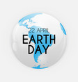 earth day background aprill22 vector image vector image