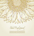 Floral sunflower background vector | Price: 1 Credit (USD $1)