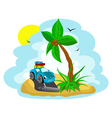 funny island vector image vector image