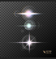 glowing lights and stars on transparent vector image