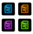 glowing neon share file icon isolated on white vector image vector image