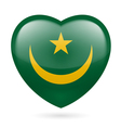 Heart icon of Mauritania vector image vector image