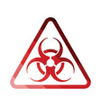 icon of biohazard vector image vector image