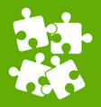 jigsaw puzzles icon green vector image vector image