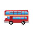 london red bus double decker retro bus flat vector image