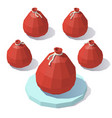 low poly bag of gifts vector image