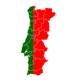 Map and flag of Portugal vector image