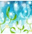 mistletoe holiday background vector image vector image