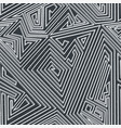 monochrome maze seamless pattern with grunge vector image