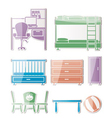 nursery and room furniture vector image vector image
