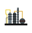 Oil refinery flat icon vector image vector image
