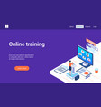 online training 3d lp template vector image vector image