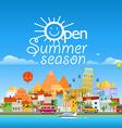 Open sunner season concept Asia cityscape travel vector image vector image